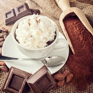 Hot Chocolate with Yolá Whipped Yogurt Topping