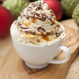 Upgrade a Salted Caramel Mocha with Yolá Whipped Yogurt Topping